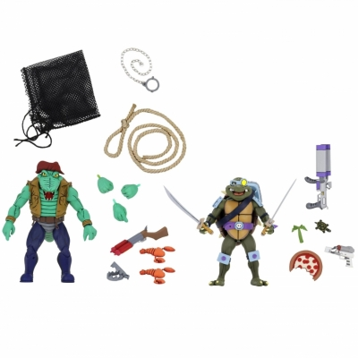Neca - TMNT Cartoon - Leatherhead And Slasher Pack
